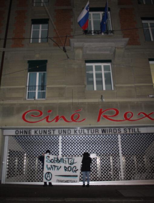 Transpiaktion Räumung ROG Slovenien