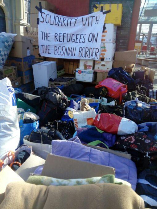 Kistenweise Solidarität Balkan-Route