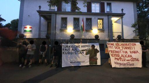 Kundgebung KDP Büro